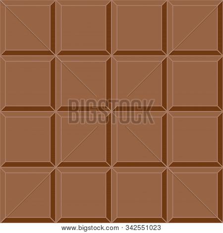 Seamless Background Milk Chocolate Tile Vector Seamless Delicious Mouth Watering Chocolate Bar