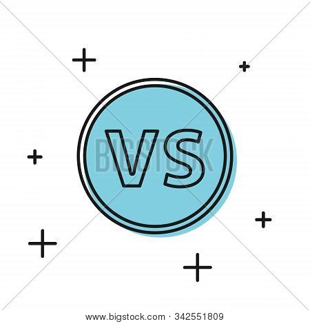 Black Vs Versus Battle Icon Isolated On White Background. Competition Vs Match Game, Martial Battle