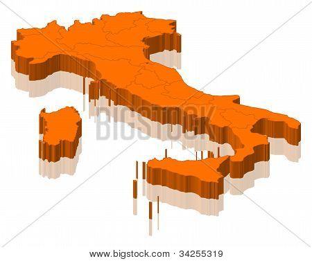 Karta över Italien