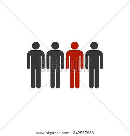 One Of Peoples Group Icon Vector. Stock Vector Illustration Isolated On White Background.