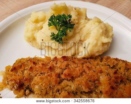 Fish Filet A La Bordelaise With Mashed Potatoes