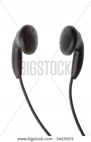 Headphones Against White