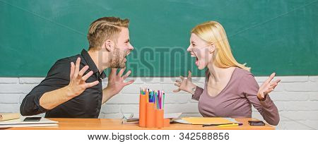 Compromise Solution. College Relations. Relations Classmates. Students Communicate Classroom Chalkbo