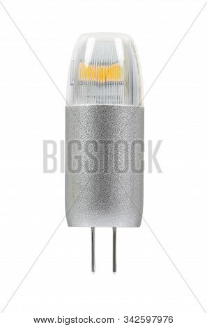 Modern G4 Led Bulb Isolated On White Background With Clipping Path