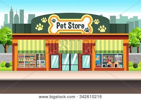 An Illustration Of A Pet Store Shop