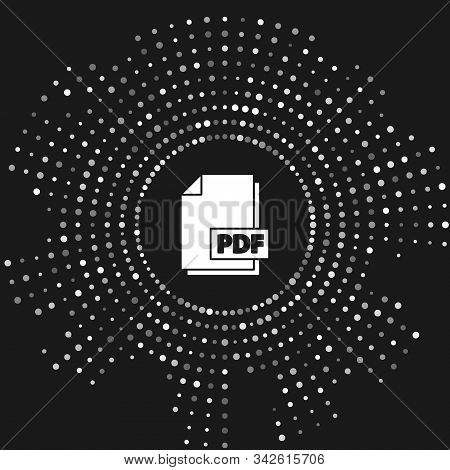 White Pdf File Document. Download Pdf Button Icon Isolated On Grey Background. Pdf File Symbol. Abst