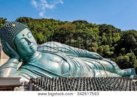 Nanzoin Temple, Fukuoka, Japan - November 2019 : Nanzo-in Temple Isa Shingon Sect Buddhist Temple In