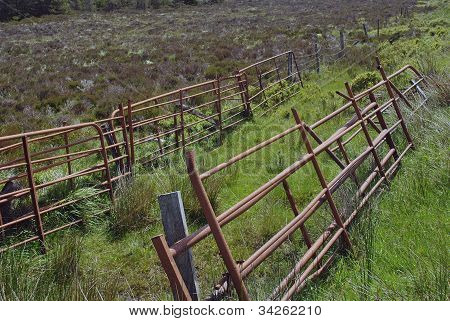 rusty steel gates