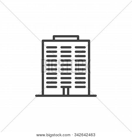 Condo Building Line Icon. Linear Style Sign For Mobile Concept And Web Design. Townhouse Buildings O