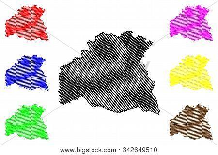 Soriano Department (departments Of Uruguay, Oriental Republic Of Uruguay) Map Vector Illustration, S