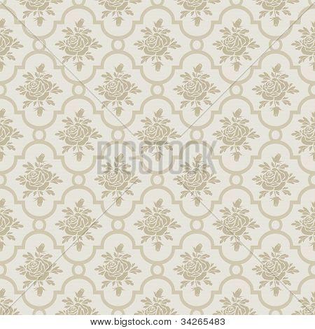 Pastel romantic roses seamless pattern