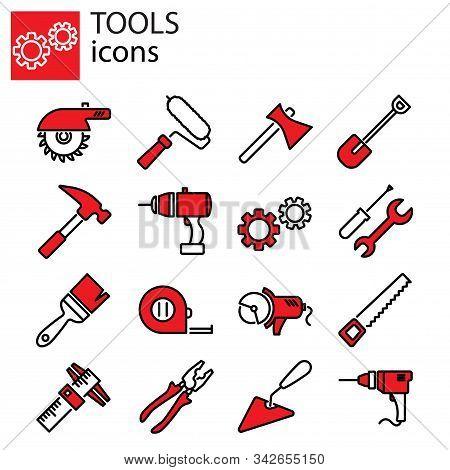Web Icons Set. Tools Vector Sign Symbol