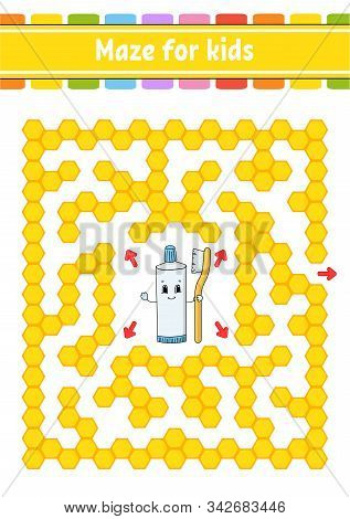 Rectangular Color Maze. Game For Kids. Funny Labyrinth. Education Developing Worksheet. Activity Pag
