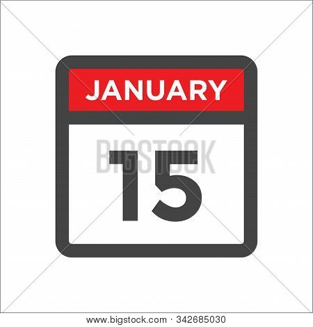 January 15 Calendar Icon W Day Of Month