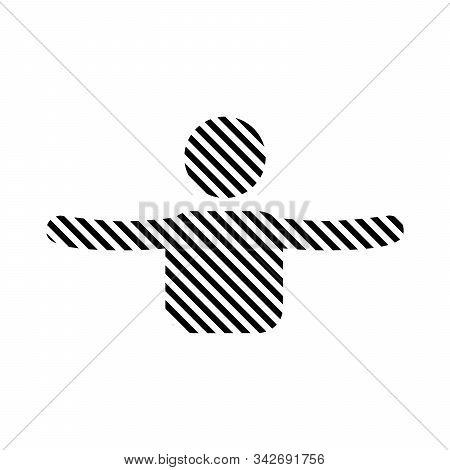Stripped Hug Icon. Embrace Or Hug Icons Vector Logo Design. Hug Or Frienship Made Of Line. Stock Vec