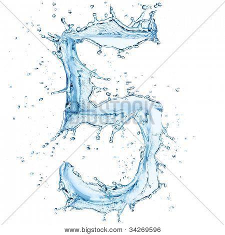 Water splashes number