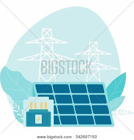 Flat Style Payment Of Utility Bills Concept. Vector Illustration. Utility Bills And Saving Resources