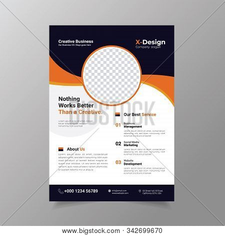 Business Brochure Flyer Design Layout Template In A4 Size.,annual Report, Magazine, Poster Or Bookle