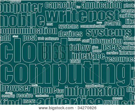 Wort Wolke Stichworte Konzept Illustration von social media