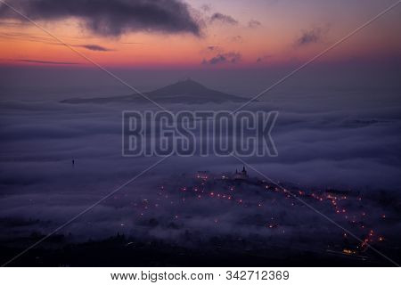 Central Bohemian Highlands Is A Mountain Range Located In Northern Bohemia In The Czech Republic. Th