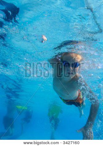 Boy Freestyle Swimming