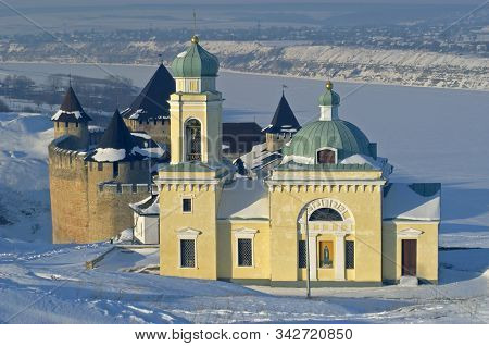 Alexander Nevsky Church Together With Khotyn Fortress