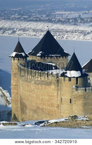 Khotyn Fortress In Winter