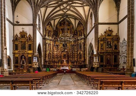 Zafra, Spain - Nov 06, 2019: Interior Of Our Lady Of The Candelaria Church In Zafra. Badajoz. Spain.