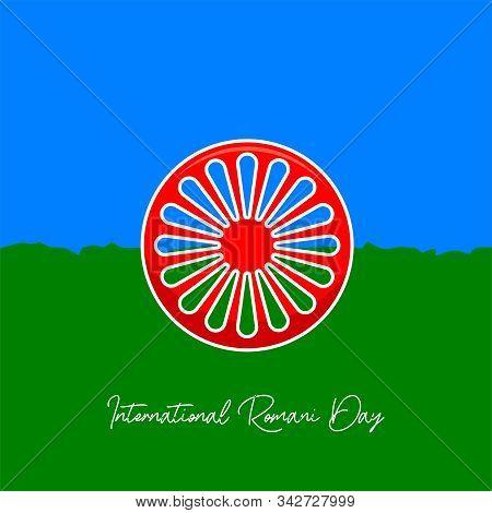 International Romani Day On 8 April Vector Design With Romania Flag