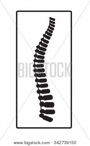 Arthritis Icon. Osteopath Practice. Osteoporosis Sign, Osteoarthritis Anatomical Vector. Spine Pain,