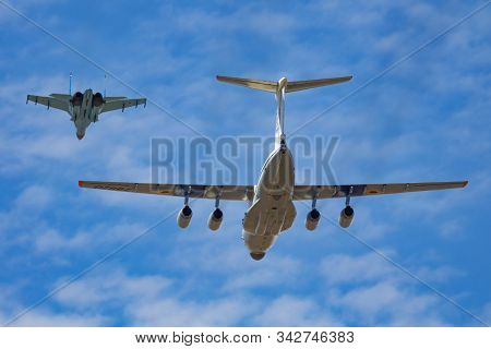 Fairford / United Kingdom - July 12, 2018: Ukrainian Air Force Arrival For Riat Royal International