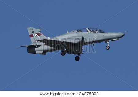 Australian Hawk Jet Trainer On Approach To Land