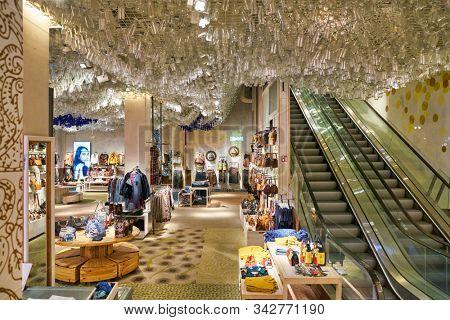 BERLIN, GERMANY - CIRCA SEPTEMBER, 2019: interior shot of Desigual store in Berlin.