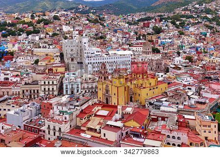Guanajuato, Mexico, 2018.09.19., The Town Of Guanajuato Seen For The Overlook