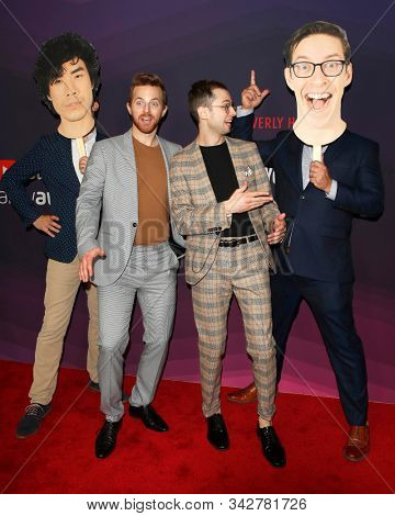 LOS ANGELES - DEC 13:  Eugene Lee Yang, Ned Fulmer, Zach Kornfeld, Keith Habersberger at the 9th Annual Streamy Awards at the Beverly Hilton Hotel on December 13, 2017 in Beverly Hills, CA