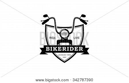 Bike Motorcycle Rider Logo Design. Motorcycle Logo Vector