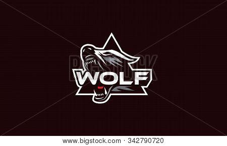 Wolf Esport Logo Icon Vector Symbol Simple