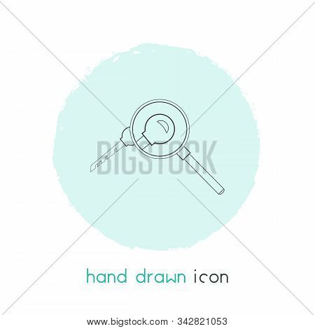 Keyword Research Icon Line Element. Vector Illustration Of Keyword Research Icon Line Isolated On Cl