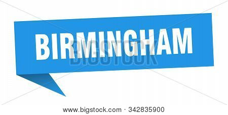 Birmingham Sticker. Blue Birmingham Signpost Pointer Sign
