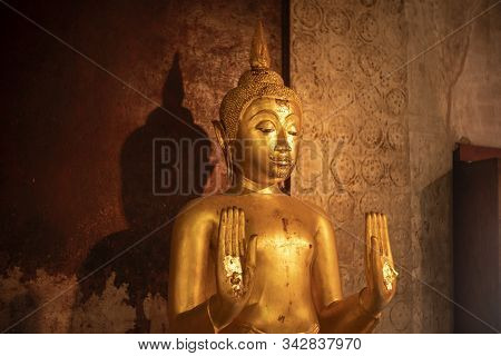 Buddha Statue In Phetchaburi Province Of Thailand