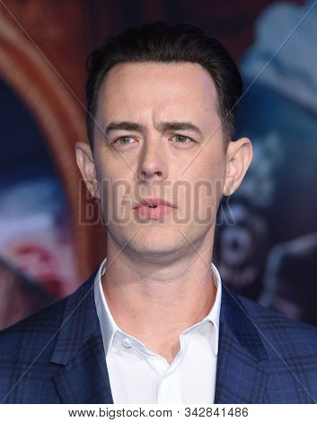 LOS ANGELES - DEC 09:  Colin Hanks arrives for the ÔJumanji: The Next LevelÕ Los Angeles Premiere on December 09, 2019 in Hollywood, CA