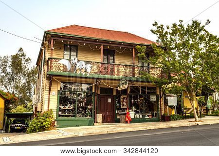 Cobargo, Nsw - December 20, 2019: Shops In The Main Street Of Cobargo In Nsw (new South Wales) Days