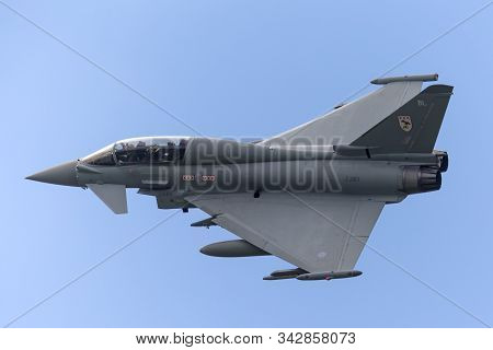 Raf Coningsby, Lincolnshire, Uk - July 4, 2014: Royal Air Force (raf) Eurofighter Ef-2000 Typhoon T.