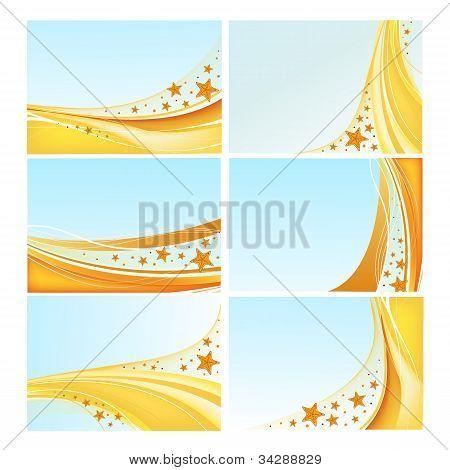 Sea backgrounds vector set
