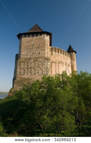 Khotyn Fortress - Vertical Composition
