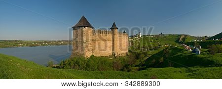 Khotyn Fortress Panorama, Spring Or Summer