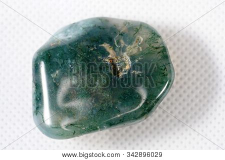 Moss Agate Is A Type Of Chalcedony That Contains Minerals Of Green Color In The Stone, Formed In Fil