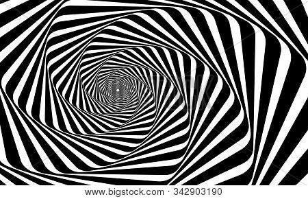 Abstract Swirly Spiral Hypnosis Pattern - Vector Collection