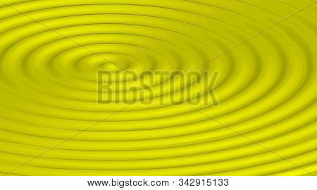 Rippled Yellow Background For Banner, Poster, Flyer, Card, Cover, Brochure. Wavy Vector Illustration