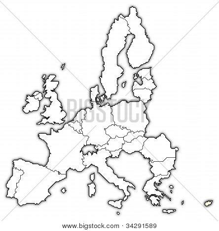 Karta över Europeiska unionen, Cypern belyst